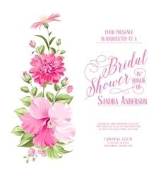 Flower garland for invitation card vector