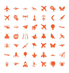 fly icons vector image