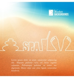 Foot care vector image