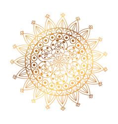 Golden and circular mandala vector