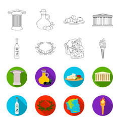 greece country tradition landmark greece set vector image