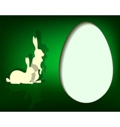 Green design Easter eggs vector