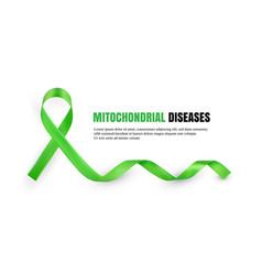 Green mitochondrial diseases awareness symbolic vector