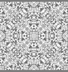 Grey seamless kaleidoscope pattern background vector