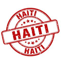 Haiti red grunge round vintage rubber stamp vector