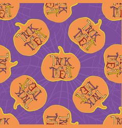 Halloween funky trick or treat typography vector