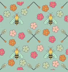 Honey patterns vector