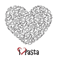 icon of pasta vector image