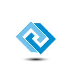 infinite business logo vector image