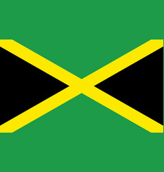 jamaica flag icon in flat style national sign vector image