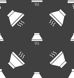 Kitchen hood icon sign Seamless pattern on a gray vector image