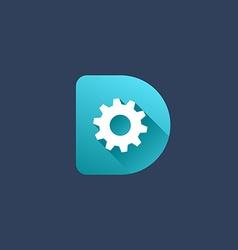 Letter D technology logo icon design template vector