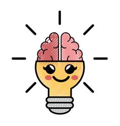 Light bulb cartoon idea vector