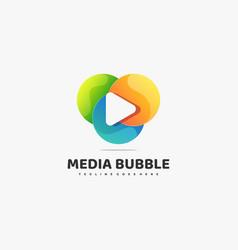 logo media bubble gradient colorful style vector image