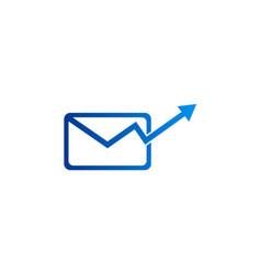 Mail arrow up logo vector