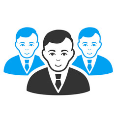 Manager group icon vector