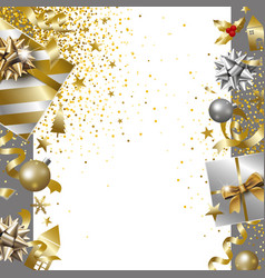 Merry christmas and happy new year banner design vector