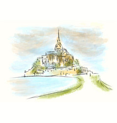 Mont saint michel vector