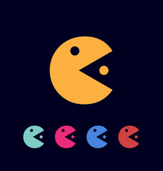 mr pacman icon template vector image