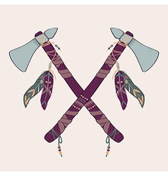 Native American indian tomahawks vector