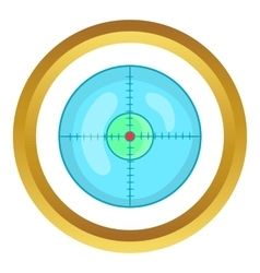 Optical sight icon vector image