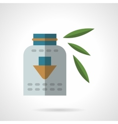 Organic dietary supplements flat icon vector image
