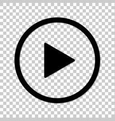 play button in line art style vector image