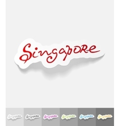 Realistic design element singapore vector