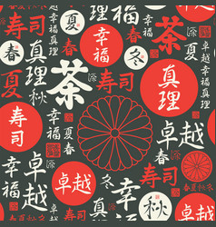 Seamless pattern on theme japan and china vector