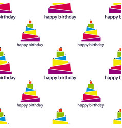 seamless pattern with abstract cake vector image