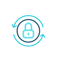 secure access icon on white vector image