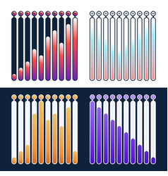 set premium quality marketing analytics bar chart vector image