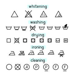 simple set clothes icons for washing vector image