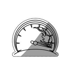 Speedometer power car vector