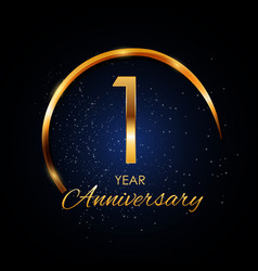 Template logo 1 year anniversary vector