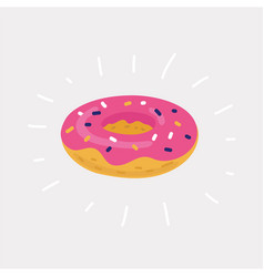 the inflatable circle donuts vector image