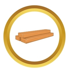 Timber planks icon vector