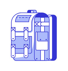 tourist backpack icon vector image