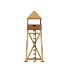 tower observation icon post background lifeguard vector image