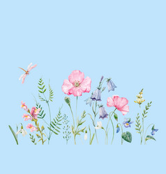 watercolor floral composition vector image