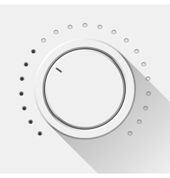 White Technology Music Button vector image