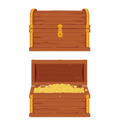 wooden pirate chest vector image