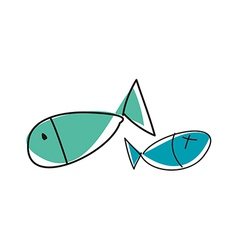 A pair of fishes vector image vector image