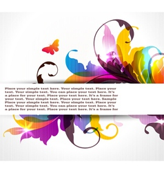background with colored floral ornament vector image