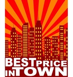 Cartoon price tag vector image vector image