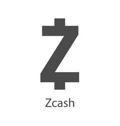 zcash icon for internet money crypto currency vector image
