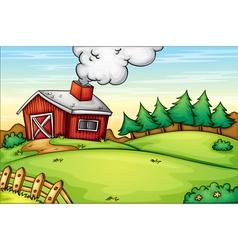 Farm background vector