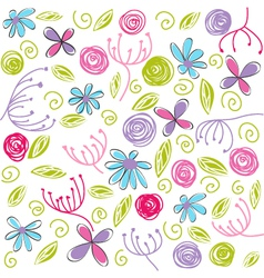 floral background easter vector image vector image