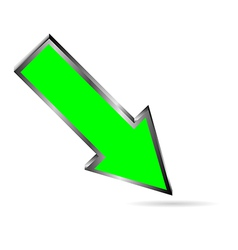 green downloads arrow on white vector image