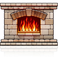 Home fireplace Christmas vector image vector image